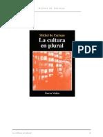 De CERTEAU, MICHEL - La Cultura en Plural