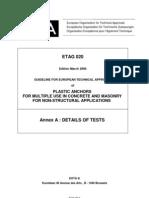 ETAG020 Plastic Anchors AnnexA 0603Final