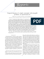 Temporal Dynamics of a Simple Community With Intraguild Predation an Experimental Test