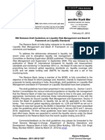Guidelines on Liquidity Risk Management and Basel III Framework on Liquidity Standards