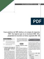 Casos prácticos de NIIF relativos a la compra de repuestos