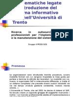 Problematiche legate all'introduzione del sistema informativo SAP nell'Università