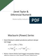 Deret Taylor Diferensial Numerik