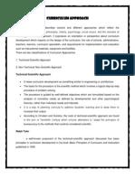Curriculum Approach (Technical-Scientific Approach)