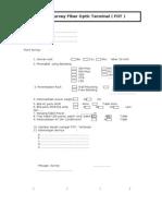 Form Survey Fiber Optic Terminal
