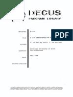 DECUS 8-102A Lisp Interpreter