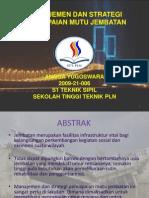 Manajemen Dan Strategi Pencapaian Mutu Jembatan Power Point