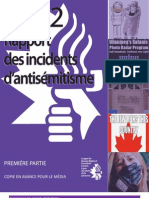 2012 Rapport des Incidents d'Antisétisme