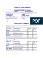 División de los Libros de la Biblia