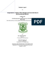 Degradation of Glass Fiber Reinforced Concrete Due to Environment