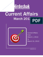 Current Affairs March 2013 Opt