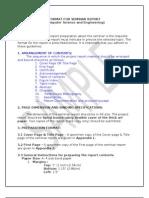 Format for Seminar Report
