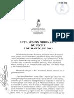 Acta Sesión Ordinaria 07-03-13