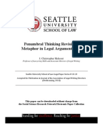 Seattle University School of Law - Penumbral Thinking Revisited, Metaphor in Legal Argumentation