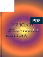 Franz Bardon Az Igazi Kabbala Kulcsa
