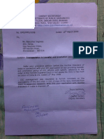 IOCL Reply Dtd 05-03-09 on Prom & Transfer Policy