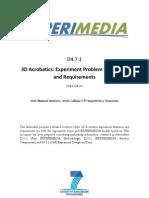 D4.7.1 3D Acrobatics Experiment Description and Requirements