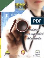 10 Acciones Para Seguridad Del Paciente