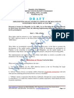 RA 9856 - Real Estate Investment Trust of 2009 (Draft IRR)