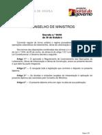 Decreto 80-06 (Angola) - Regulamento de Licenciamento das Operações de Loteamento, Obras de Urbanização e Obras de Construção