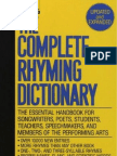 The Complete Rhyming Dictionary Includes Cover