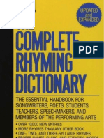 408ada2ee1e1 The Complete Rhyming Dictionary Includes Cover