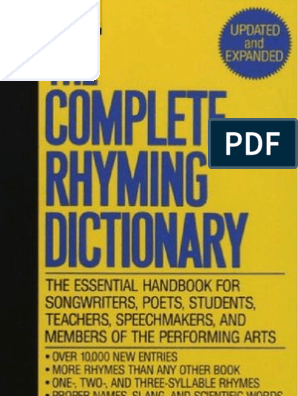 The Complete Rhyming Dictionary Includes Cover | Metre