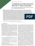 Enabling Public Auditability and Data Dynamics