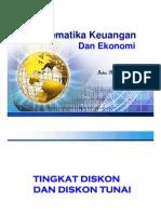 Matematika Keuangan - TINGKAT DISKONTO - Indra Maipita