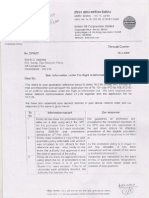 IOCL Reply Dtd 19-03-09 to BDVag on Promotion Policy