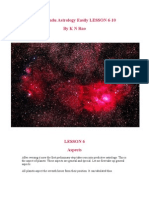 Learn Hindu Astrology Easily LESSON 6-10 by K N Rao