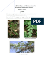 The Lycophytes, Monilophytes, and Gymnosperms of the Delmarva Peninsula, an Annotated Checklist William A. McAvoy