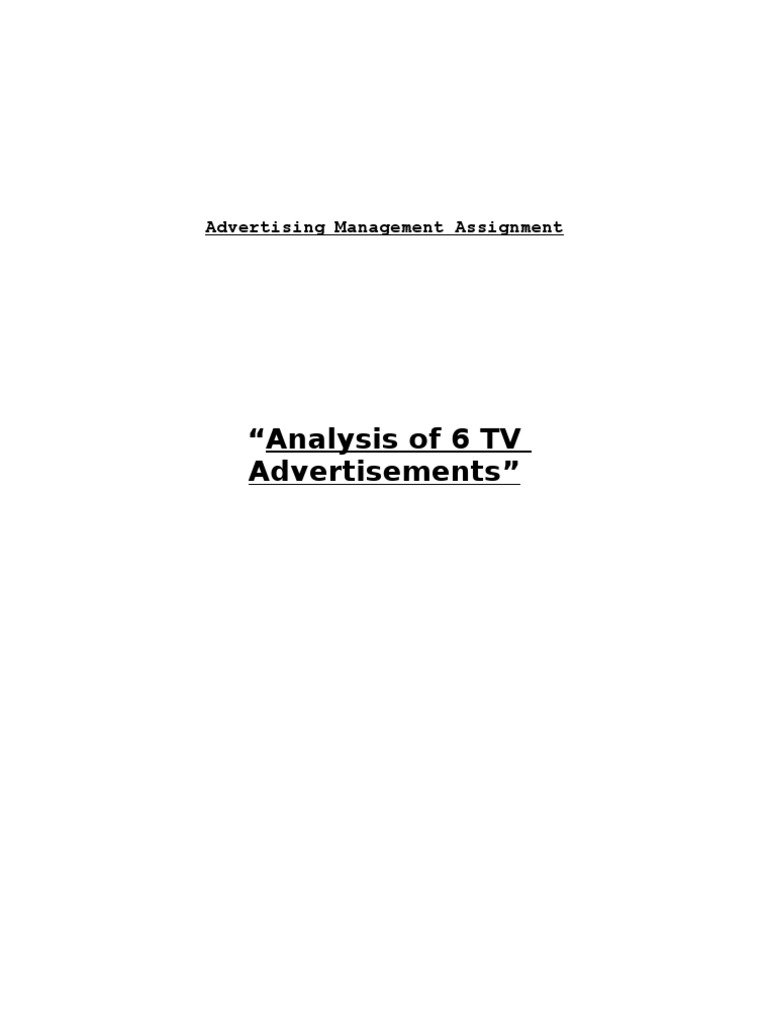 an introduction to the analysis of the infomercials on television Definition: an infomercial is a form of advertisement which is aimed at educating the customer about a product or a series of products via television in the form of a program the five forces model of analysis was developed by michael porter to analyze the competitive environment in which a product or company works.