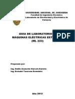 GUÍA DE LABORATORIO DE MÁQUINAS ELÉCTRICAS ESTÁTICAS ML223 (28.03.2013)