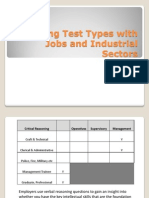 Linking Test Types With Jobs and Industrial Sectors (2)