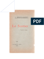 Le Sentier, par J. Krishnamurti