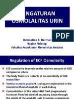 Kuliah 3. Pengaturan Osmolalitas Urin
