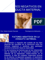 Factores Negativos en La Conducta Maternal