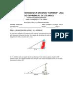 Ejercicios de Aplitacion Teorema Del Seno y Coseno