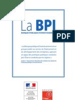 La brochure de présentation de la BPI