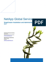 SnapCreator Installation and Administration Guide v3.1