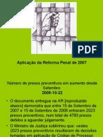 reforma penal 2007-aplicação