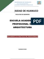 Reglamento PPP EAP Arquitectura