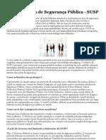 Sistema Único de Segurança Pública - SUSP — defesasocial