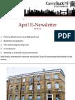 Karen's April Newsletter