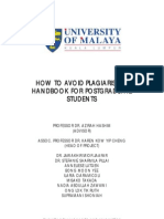 How to Avoid Plagiarism a Handbook for Postgraduate Students(1)