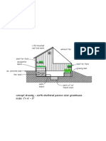 Passive Solar Greenhouse Concept Drawing