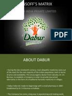 Ansoff's Matrix for Dabur