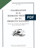 Valorisation de La Biomasse Vegetale
