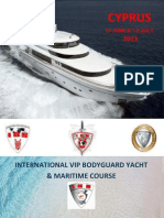 Bodyguard Yacht & Maritime Security Course Cyprus 2013